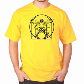 Camisa Camiseta, Leonardo Da Vinci - Vitravian-man Bateria