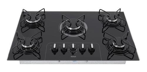 Fogão cooktop gás Consul CD075  preto 110V/220V