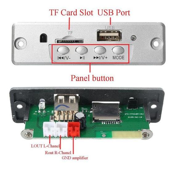 Leory Carro Mp3 Placa Amplificador De Áudio Bluetooth Decodi