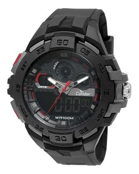Relógio Condor Masculino Anadigi Co1154cr/8p