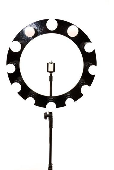 Ring Light12 Led Com 55cm Lâmpadas 9w Bivolt Reclinável