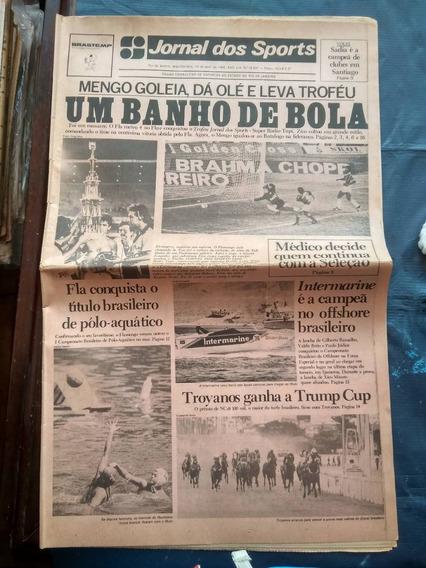 Jornal Dos Sports - Flamengo Leva Taça - Abril 1989