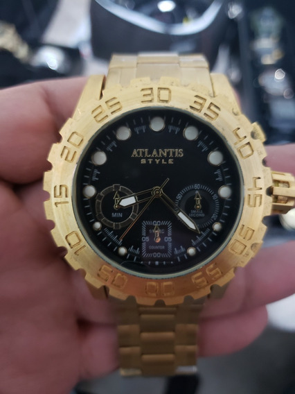 Relógio Atlantis Style Big Gold