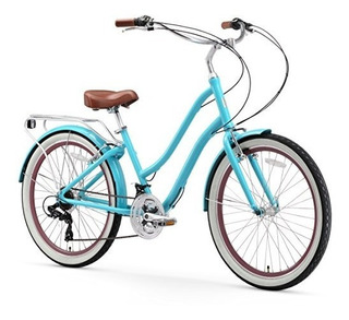 Bicicleta Sixthreezero Para Mujer 21 Velocidades Color Teal