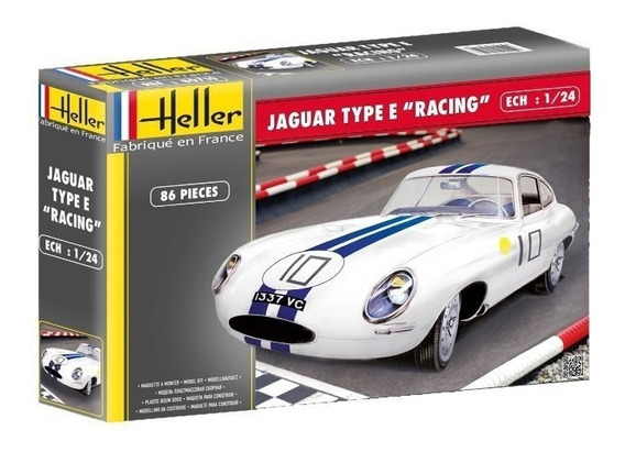Jaguar Type E Racing Le Mans - Escala 1/24 Heller 80783