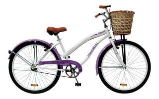 Bicicleta Dama Rodado 26 Playera Canasto Mimbre Royal Dama
