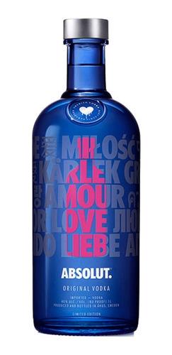 Absolut Vodka Drop Of Love 750ml Edicion Limitada