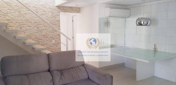 Apartamento Residencial Cobertura Para Venda E Locação, Mansões Santo Antônio, Campinas. - Ap0409