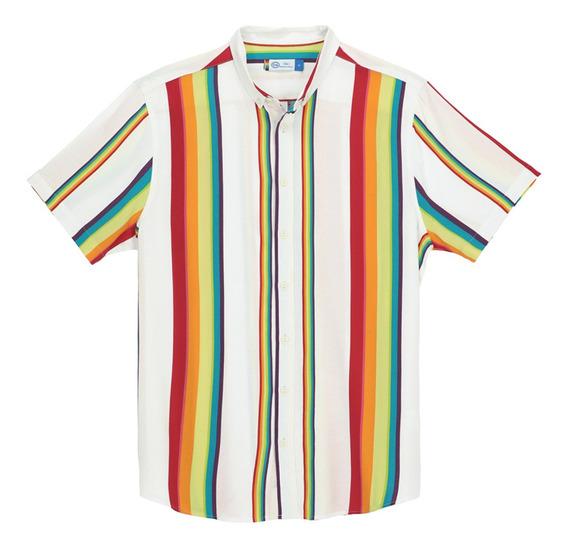 Camisa Viscosa De Hombre C&a Manga Corta