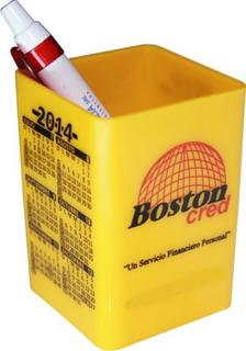 50 Cubos Portalapices De Escritorio Con Calendario Y Logo Personalizado