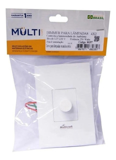 Dimmer Rotativo Branco 80357 Multicraft