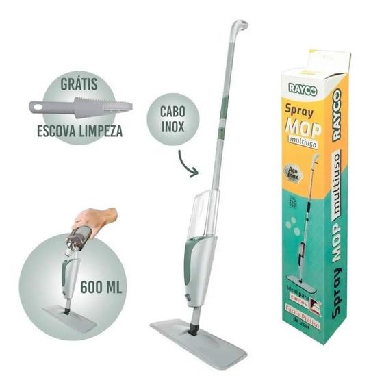 Limpador Spray Mop Multiuso 600ml Cabo Aço Inox - Rayco