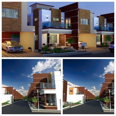 Excelente Proyecto De Casas 2 Niveles Terminacion De Primera