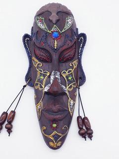 Enfeite Máscara Africana Resina Estátua Decoração C