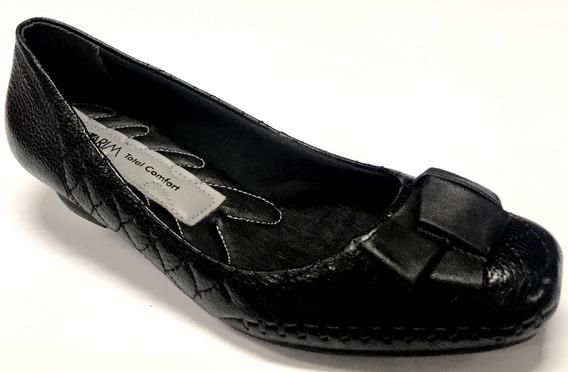 Sapato Feminino Ramarim Total Comfort Couro Salto 3 Cm Saldo