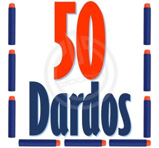 50 Dardos De Repuesto Compatibles Para Nerf N-strike Elite