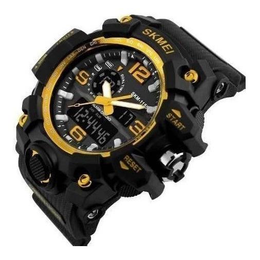 Relógio Original Skmei Modelo: 1155 Dourado Natação