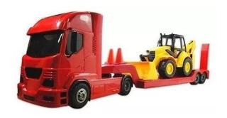 Brinquedo Construction Pollux Caminhão Articulável E Trator