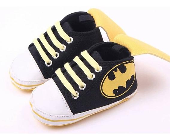 Sapatinho Bebê Primeiros Passos Do Batman Para Meninos - Pronta Entrega.