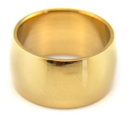 Aliança 12mm Banhado Ouro 18k Casamento Noivado - Promoção