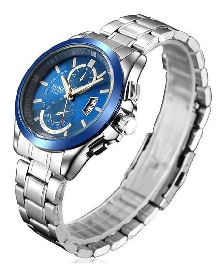 Reloj Premium Soki Japan Movement Nuevo Modelo Original De Acero Inoxidable Moda Elegante