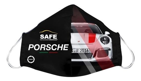 Cubre Boca Para Niño Porsche Blanco Edición Safe Refacciones
