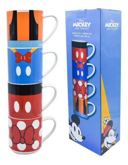 Tazas Mickey & Friends Apilables
