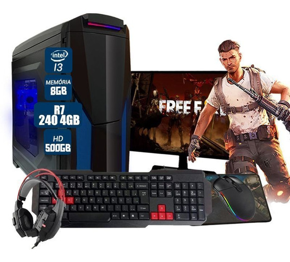 Pc Gamer Completo Aires Pcyes Rx 460 4gb 8gb Hd 500gb Wi-fi