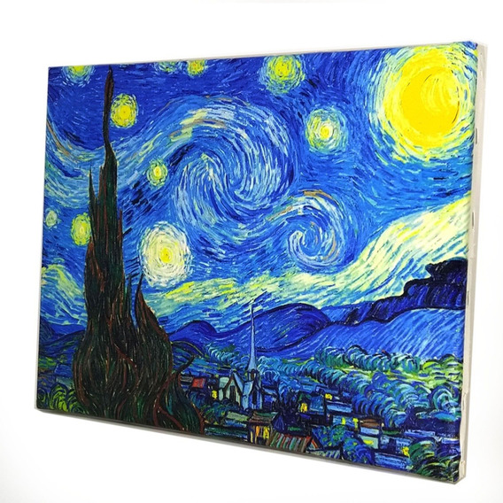 Quadro Noite Estrelada De Van Gogh 30x40cm