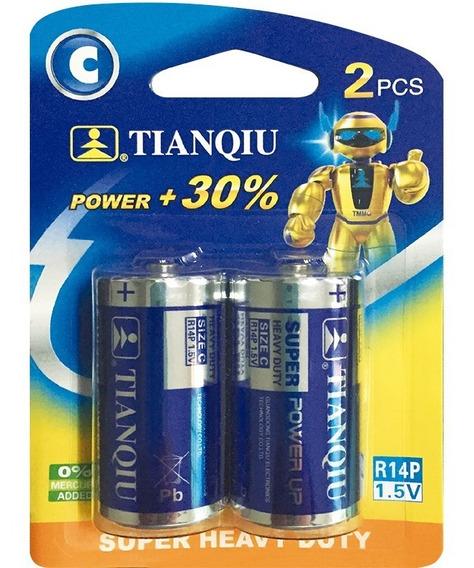 Pila Batería Tipo C Super Heavy Duty Caja 12 Blister 24 Unid