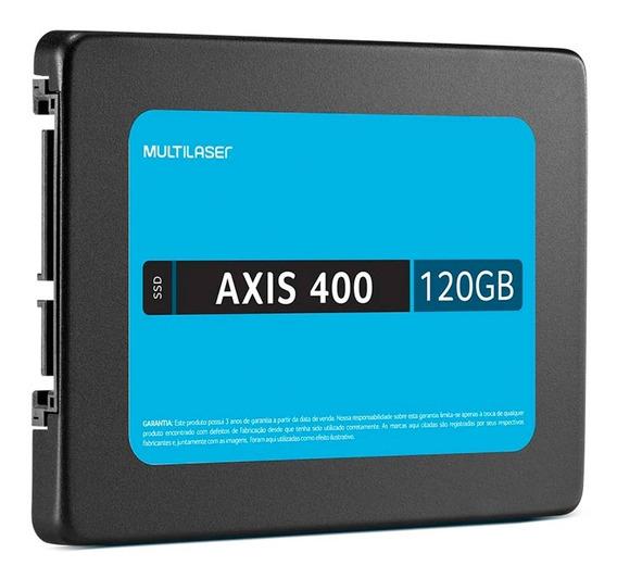 Ssd - 2,5pol / Sata3 - 120gb - Multilaser Axis 400 - Ss101 (