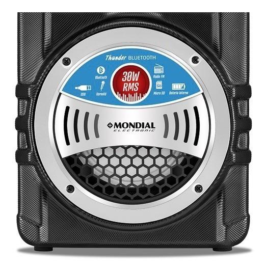 Caixa De Som Amplificada Mp3 P10 Led Bluetooth 30w Rádio Fm