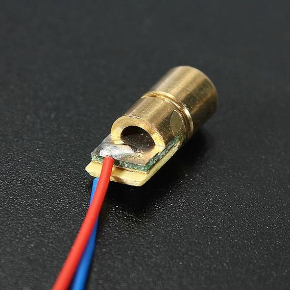 5 Pecas Laser Diodo Vermelho Dc 5v 5mw 650nm 6 Mm