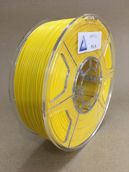 Filamento 3d Pla_1,75mm_1kg - Amarelo_frete Gratis