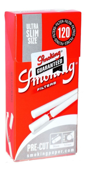 Filtros Smoking Ultra Slim Size Pre-cut X120