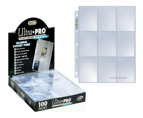 Folios De Carpeta Ultra Pro X30 Hojas Platinum Scarlet Kids
