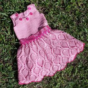 74497bdb5 Vestido Croche Infantil Grafico - Calçados, Roupas e Bolsas Rosa ...