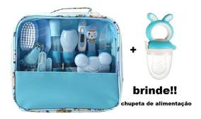 Kit Higiene E Cuidados Do Bebe Recém Nascido Azul + Brinde
