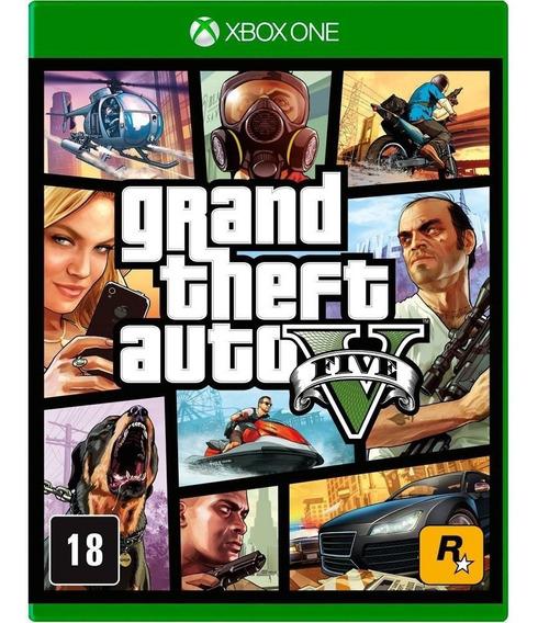 Jogo Gta 5 V Xbox One Disco Físico Lacrado Nacional Br
