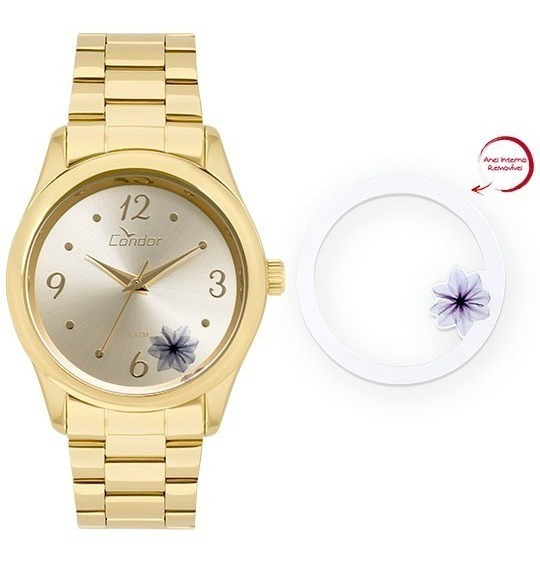 Relógio Condor Feminino Co2035kvx/4d Dourado Analogico