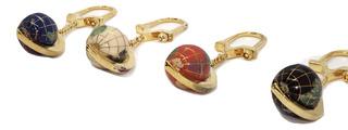 Mini Globo Terrestre Chaveiro Em Pedras Gemas Preciosas