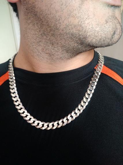Corrente Groumet Masculina 55 Cm Prata 925 Cordão Colar