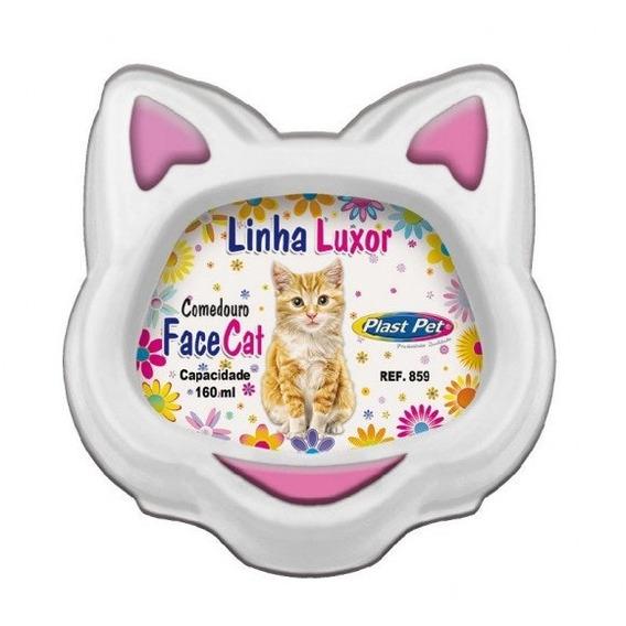 Comedouro Luxor Facecat 130ml Rosa