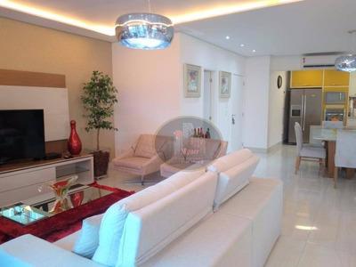 Apartamento Alto Padrão, Exclusivo Com 3 Dormitórios Para Alugar, 130 M² Por R$ 8.000/mês - Gonzaga - Santos/sp - Ap4216