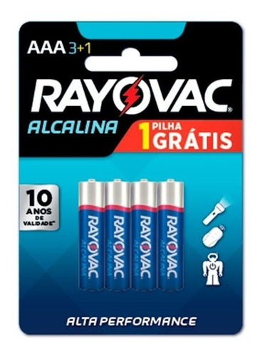 Pilha Alcalina Rayovac Aaa (palito) Caixa Com 48 Pilhas