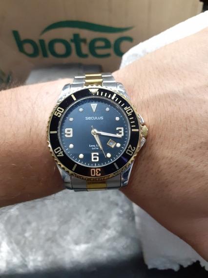 Relógio Seculus Masculino Modelo 28153gpsbba1