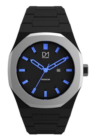 Reloj Ultra Ligero Premium Black Silver Ligth Blue