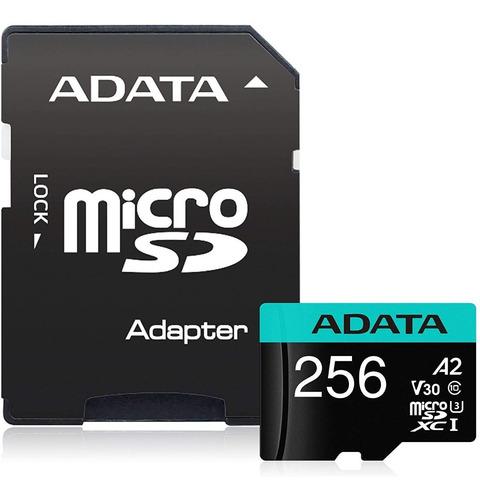 Memoria Micro Sdxc 256gb Adata Clase 10 Video 4k V30 A2