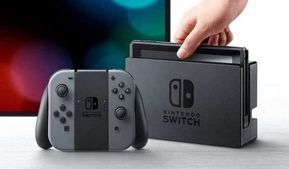 Nintendo Switch 32gb Gray / Cinza Original Nf