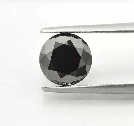 Diamante Negro Natural, 1.27 Cts, Certificado Glc , 6.12 Mm